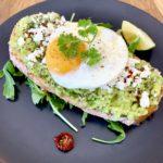 Avocado on toast extra egg