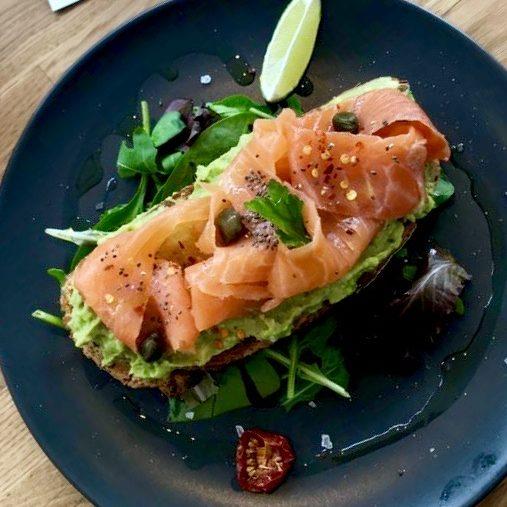 Avocado on toast extra salmon
