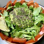 Green salad extra avocado