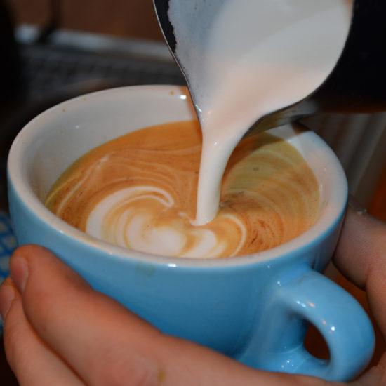 Macchiato coffee preparation